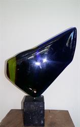 glas 110 diep blauw met groen