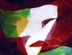 glas portret de rode vrouw